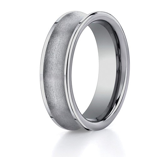 Benchmark 7mm Brushed Concave Tungsten Carbide Ring