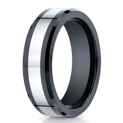 Benchmark 7mm Flat Seranite Ring with Cobalt Chrome Center