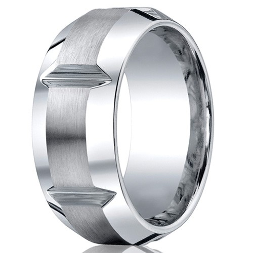 Benchmark 10mm Slotted Cobalt Chrome Ring with Polished Beveled Edges