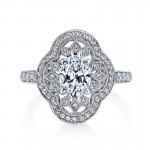 MARS 25262 Diamond Engagement Ring 0.43 Ctw.