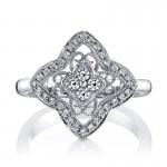 MARS Diamond Engagement Ring 0.37 ct tw