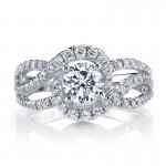 MARS 25602 Diamond Engagement Ring 0.70 Ctw.