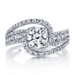 MARS 25666 Diamond Engagement Ring 0.87 Ctw.
