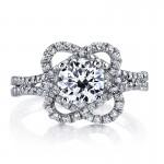 MARS 25668 Diamond Engagement Ring 0.56 Ctw.