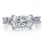 MARS 25737 Diamond Engagement Ring 0.33 Ctw.