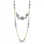 18K GOLD WHITE CH112-Y NECKLACE