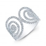18k Diamond Parallel Wrap Around Statement Ring
