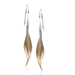 18K TWO TONE GOLD DE117-R EARRING