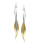 18K TWO TONE GOLD DE117-Y EARRING