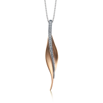 18K TWO TONE GOLD DP113-R PENDANT