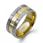 14K TWO TONE GOLD LG100 MEN RING