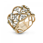 18K TWO TONE GOLD LR1090 RIGHT HAND RING
