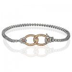 18K GOLD WHITE & ROSE MB1597 BRACELET