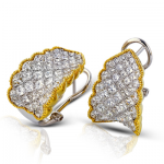 18K TWO TONE GOLD ME1911 EARRING
