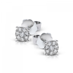 18K GOLD WHITE ME1930 EARRING