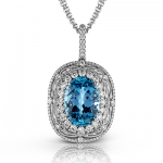18K WHITE GOLD, WITH WHITE DIAMONDS. MP1686 - COLOR PENDANT