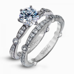 18K WHITE GOLD, WITH WHITE DIAMONDS. MR1546 - WEDDING SET