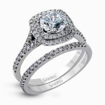 18K GOLD WHITE ENGAGEMENT RING MR2459-WS