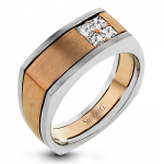 14K TWO TONE GOLD MR2887 MEN RING