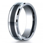 Benchmark 7mm Flat Cobalt Chrome Ring with Seranite Center