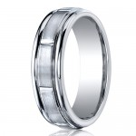 Benchmark 7mm Dual Finish Slotted Cobalt Chrome Ring