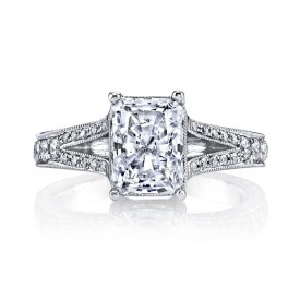 MARS 14529 Diamond Engagement Ring 0.34 Ctw.