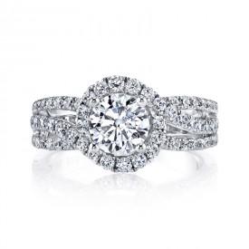 MARS 25097 Diamond Engagement Ring 1.02 Ctw.