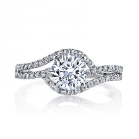 MARS 25149 Diamond Engagement Ring 0.36 Ctw.