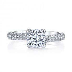 MARS 25272 Diamond Engagement Ring 0.60 Ctw.