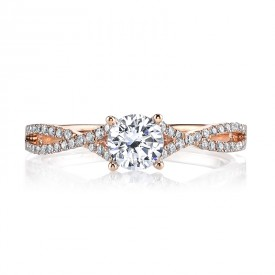MARS 25279 Diamond Engagement Ring 0.20 Ctw.