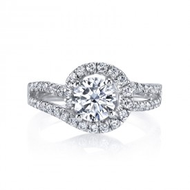 MARS 25595 Diamond Engagament Ring 0.73 Ctw.