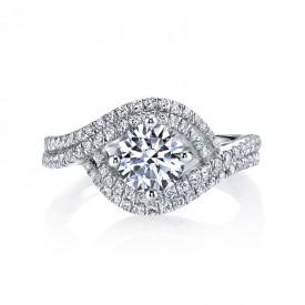 MARS 25605 Diamond Engagement Ring 0.57 Ctw.