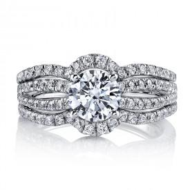 MARS 25633 Diamond Engagement Ring 0.81 Ctw.