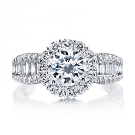 MARS Diamond Engagement Ring 0.80 Ct Rd, 0.37 Ct Bg.