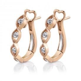 MARS Fashion Earrings, 0.27 Ctw.