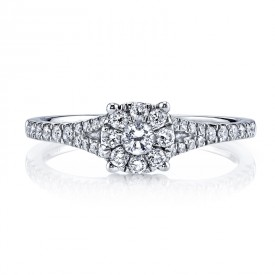 MARS 25789 Diamond Engagement Ring 0.42 Ctw.
