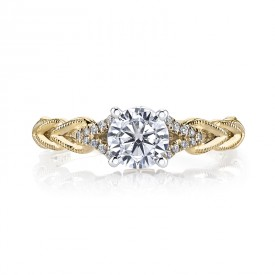 MARS 25816YG Diamond Engagement Ring 0.10 Ctw.