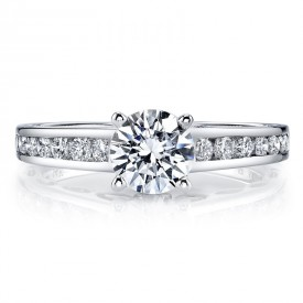 MARS 25836TT Diamond Engagement Ring 0.50 Ctw.