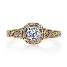 MARS 25850 Diamond Engagement Ring 0.13 Ctw.