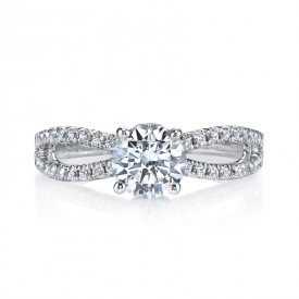 MARS 26097TT Diamond Engagement Ring, 0.41 Ctw.