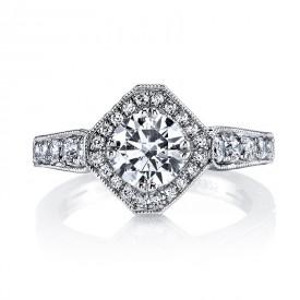 MARS Diamond Engagement Ring, 0.66 Ctw