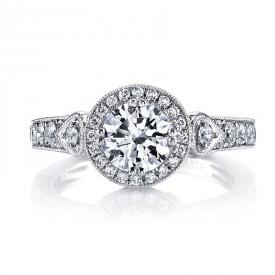 MARS Diamond Engagement Ring, 0.85 Ctw.