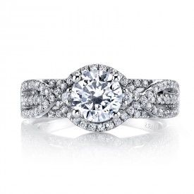 MARS 26203 Diamond Engagement Ring 0.58 Ctw.