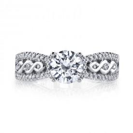 MARS 26242 Diamond Engagement Ring 0.33 Ctw.