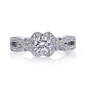 MARS Diamond Engagement Ring 0.10 Ctw.