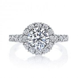 MARS Diamond Engagement Ring 0.93 Ctw.