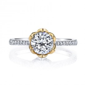MARS 26530 Diamond Engagement Ring 0.18 Ctw.