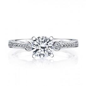 MARS 26543 Diamond Engagement Ring 0.17 Ctw.