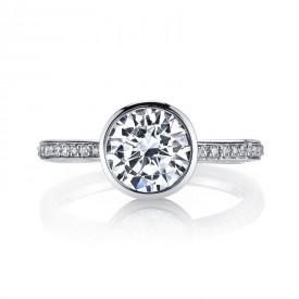 MARS 26702D Diamond Engagement Ring 0.12 Ctw.