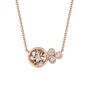 MARS Pendant Necklace, 0.08 Dia, 0.69 Morganite